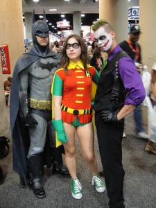 Batman fans dressed up at Comic-Con in San Diego